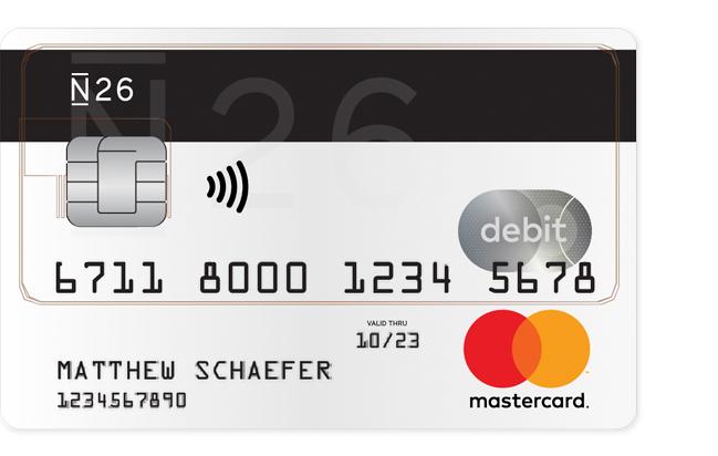 Debitkarte debit mastercard n26 reheart Image collections